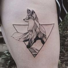 fox. Tattoo by Jasper Andres. #JasperAndres #geometry #nature #fox ...