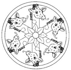 mandala; language is not important you can speak through mandala's as well; nice one's to color for both adults and kids