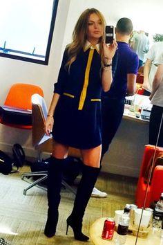 Love Lindsay Lohan's boots.