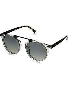John Varvatos Men s V602 Polarized Round Sunglasses, Grey Crystal UF, 52 mm  ❤ John 070e589262