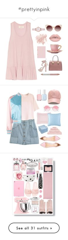"""""""#prettyinpink"""" by tryn11 ❤ liked on Polyvore featuring The Great, River Island, Bare Escentuals, WithChic, Jane Iredale, Emporio Armani, H&M, Chicnova Fashion, Alexander McQueen and Essie"""