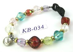 KB034 multicolor acrylic Kitty Cat Bling Beaded by OklahomaMama, $10.00