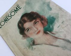"""ON SALE Vintage Music Sheet for """"I Know What It Means to Be Lonesome"""" by Kendis Brockman & Vincent 1930s -    Edit Listing  - Etsy"""