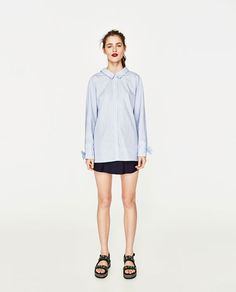 ZARA - WOMAN - SHIRT WITH BOWED CUFFS AND BACK