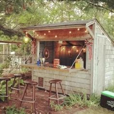 Forget Man Caves, Backyard Bar Sheds Are the New Trend http://www.mancavegenius.org/category/man-cave-design/