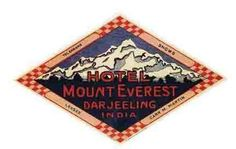 Mount Everest   Hotel India  Vintage style Travel Decal sticker India Nepal