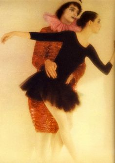 David Bailey for Vogue 1975 - what was up with all the mimes and clowns in the '70s?