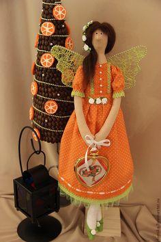 Аделия. Кукла в стиле Тильда - оранжевый,подарок,подарок на новый год