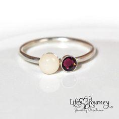 Breast Milk Jewelry - Breastmilk Ring; keepsake jewerly; https://www.lifesjourneyjewelrycreations.com/