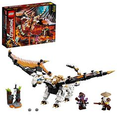 LEGO-Le Dragon de WU Ninjago Jeux de Construction 71718 Multicolore Construction Lego, Dragons, Kids Stage, Crossbow Bolts, Lego Gifts, Lego Ninjago Minifigures, Buy Lego, Lego Models, Birthday Presents