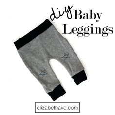 Easy Baby Leggings Tutorial | These Harem style baby pants are the perfect 30 minute DIY sewing project for a nesting pregnant momma or a baby shower gift. | www.elizabethave.com