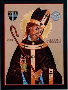 "|Happy Feast Day of St Augustine of Canterbury ""The Apostle of England"" – May 27 #pinterest Work was sometimes slow and Augustine did not always meet with success. Attempts to reconcile the Anglo-Saxon Christians with the original Briton Christians (who had been driven into western England by ....... Awestruck.tv"