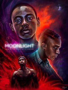 Moonlight by Ladislas Chachignot - Home of the Alternative Movie Poster -AMP-  https://www.behance.net/ladislas