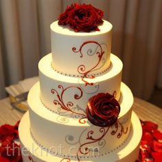 red and black cake | Attire and Accessories Budget & DIY Destination Weddings Invites and ...