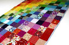 Rainbow quilt rainbow patchwork quilt modern patchwork
