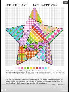 Patchwork heart X-stitch chart by Michaela Learner Cross Stitch Heart, Cross Stitch Borders, Cross Stitch Samplers, Cross Stitch Designs, Cross Stitching, Cross Stitch Embroidery, Embroidery Patterns, Cross Stitch Patterns, Patchwork Heart