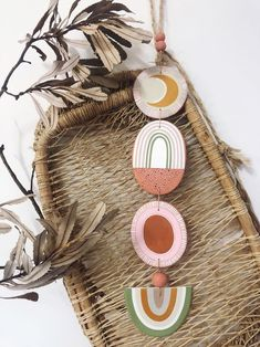Image of Wilderness Totem Slow Living, Baby Room Decor, Earth Tones, Terracotta, Natural Beauty, Arts And Crafts, Clay, Hand Painted, Ceramics