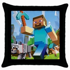 Minecraft Creeper Xbox 360 Wii PS3 Games Throw Pillow Case Home Decor