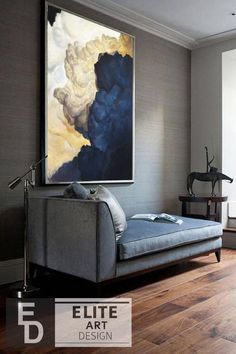 Painting Textured Walls, Blue Painting, Painting Edges, Acrylic Painting Canvas, Painting Clouds, Navy Gold Bedroom, Canvas Art Projects, Living Room Canvas, Blue Artwork