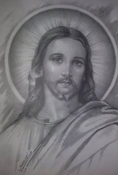 Beautiful Jesus drawing, found in Egypt by my sister Donny ♥