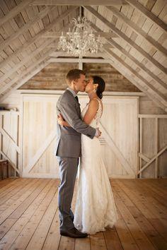 Romance in the white barn.