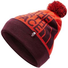 Ready for après ski scene or hot-dogging on the slopes, this vintage-inspired ski hat is finished with a classic pom-pom. Ski Hats, Apres Ski, Fiery Red, Winter Sports, Fig, Vintage Inspired, Skiing, The North Face, Women's Fashion