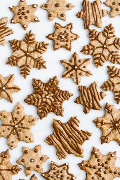 Coconut Sugar Cookies: These snowflake shaped and naturally sweetened cookies are made (and glazed) with coconut sugar. They are just the right amount of sweet and buttery.