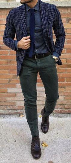 Blazer en laine + Pantalon kaki = Accord Parfait #nouvelleco #look #menswear #mode