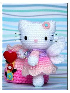 """Hello Kitty Amigurumi - Free Crochet Pattern No it's not. I just thought I'd try to """" wing it"""" from the picture."""