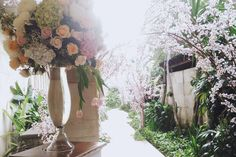 Cherry Blossom, Floral Wreath, Wedding Decorations, Romantic, Wreaths, Garden, Instagram Posts, Garten, Romantic Things