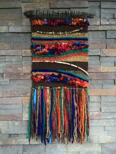Ideas Wall Tapestry Woven Fiber Art For 2019 Art Fibres Textiles, Textile Fiber Art, Weaving Textiles, Weaving Art, Loom Weaving, Tapestry Weaving, Hand Weaving, Wall Tapestry, Weaving Wall Hanging