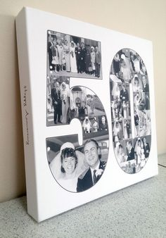 A custom designed photo collage designed from your photos to fit into any text you like. You only need to place the order now, we will email you with instructions on how to upload your photos and discuss the details of your collage. 50th Birthday Party Games, Moms 50th Birthday, 50th Birthday Decorations, 50th Birthday Quotes, 50th Birthday Cards, Anniversary Decorations, 50th Wedding Anniversary, Birthday Crafts, Anniversary Cards