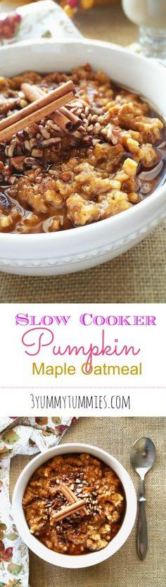 Slow Cooker Pumpkin Maple Oatmeal