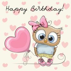 Find Cute Cartoon Owl Girl Balloon stock images in HD and millions of other royalty-free stock photos, illustrations and vectors in the Shutterstock collection. Thousands of new, high-quality pictures added every day. Happy Birthday Owl, Happy Birthday Pictures, Happy Birthday Messages, Happy Birthday Quotes, Happy Birthday Greetings, Pink Birthday, Birthday Blessings, Birthday Posts, Owl Cartoon