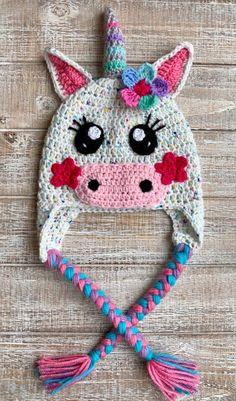 Crochet Pattern Only - Spring Fever Unicorn Crochet Hats / Children's Unicorn Hats / Infant Unicorn Hats / Crochet Unicorn Hat / Springtime - Crochet kids hats - Childrens Crochet Hats, Crochet Kids Hats, Crochet Gifts, Cute Crochet, Disney Crochet Hats, Crochet Children, Crocheted Hats, Crochet Unicorn Hat, Crochet Animal Hats