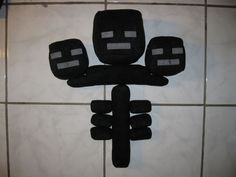 How to make a minecraft wither plushie