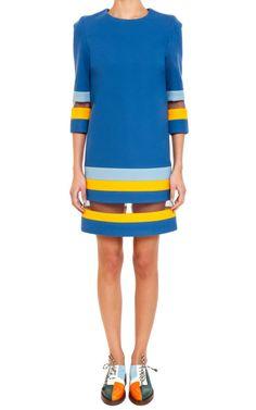 Tata Naka  Padded Shift Stripe Dress  €1,090