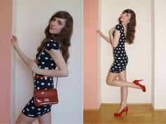 Venezia Red Bag, Asos Red Belt, Dress