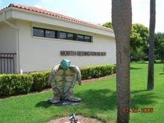 North Redington Beach Florida Oval Bumper Sticker or Helmet Sticker D2702 Decal