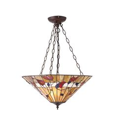 Bernwood Tiffany Large 3 Light Inverted Pendant Light 63949