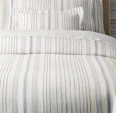 Italian Jacquard Stripe Linen Duvet Cover  RAYMOND