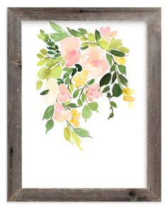 """""""Flora in Peach I"""" - Art Print by Yao Cheng in beautiful frame options and a variety of sizes."""