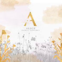 Abecedario con letras doradas decoradas con flores, imágenes de letras con flores, abecedario dorado, alfabeto dorado, letras con flores png #abecedario #alphabet #gold #goldletters