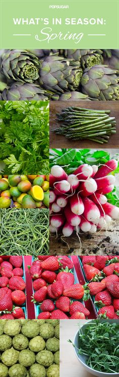 Want to eat seasonally? Here are the fruits and vegetables that are in season in Spring. Cooking For One, Basic Cooking, Girl Cooking, Cooking School, Whats In Season, Clean Eating, Healthy Eating, Cooking Quotes, Eat Seasonal