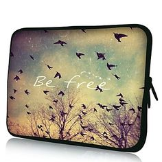 Elonno Be Free 13'' Laptop Neoprene Protective Sleeve Case for Macbook Pro/Air Dell HP Acer – NOK kr. 84