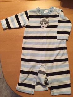 Gymboree Thermal Romper Outfit Size 3-6 Months Boys Husky #Gymboree