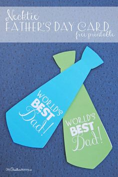 Surprise Dad with this cute Necktie Father's Day card. It's quick and easy to make, and it comes in three colors. Free printable from One Creative Mommy. Follow the link below to…