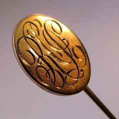 Edwardian Gold Filled Stick Cravat Hat Pin by BrightEyesTreasures, $14.99