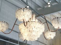 Recycled plastic water bottle chandelier in Union Market, NE Washington D.C.