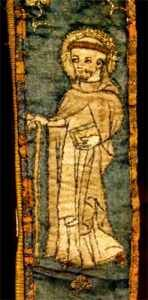 St. Dominic from medieval tapestry